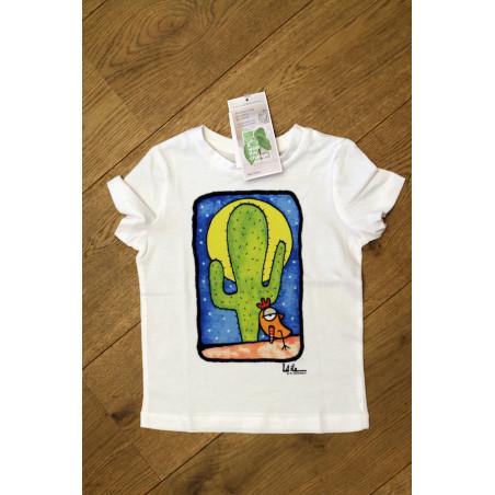T-Shirt bambino Serie Cactus - sfondo Blu