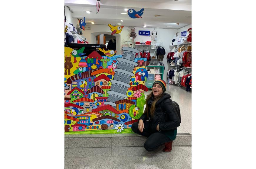 Un pannello colorato per lo shopping dei bambini